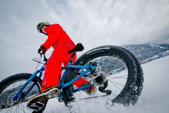 Flachau Winterurlaub - Funsport wie Fatbike ist voll angesagt