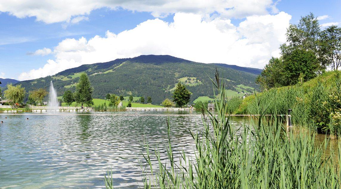 Unsere Ferienwohnung in Flachau liegt in der Nähe des Badesees